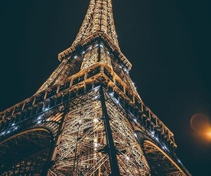 paris, night, and travel image