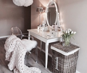 cosmetic, makeup, and makeup table image