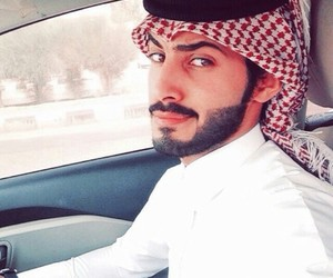 arab, beard, and handsome image