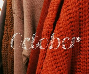 autumn, october, and sweaters image