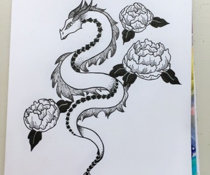 art, black, and doodle image
