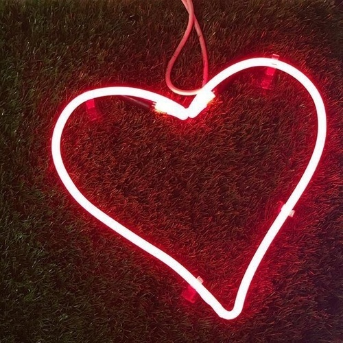 heart, red, and glow image