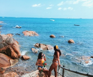 beach, summer, and irmas image