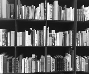 black, book, and books image