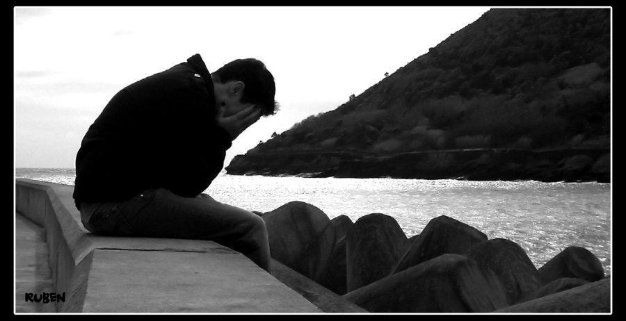 black and white, cry, and sad image