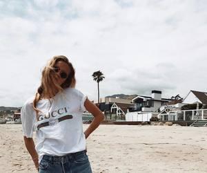 beach, fashion, and gucci image
