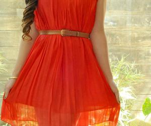 fashion, girl, and red dress image