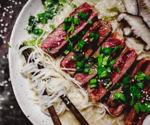 beef, ginger, and japanese food image
