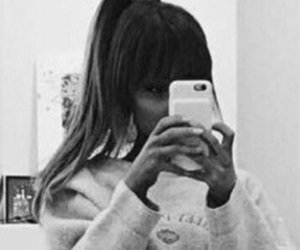 b&w, bangs, and icon image