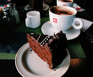 cake, coffee, and chocolate image