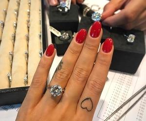 nails, ring, and tattoo image