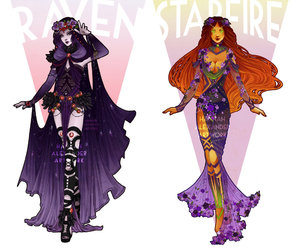 cosplay, starfire, and designs image
