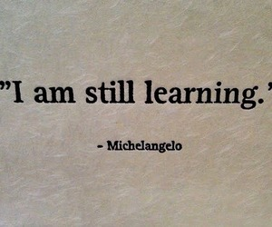 quotes, michelangelo, and learning image