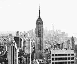 blackandwhite, newyork, and skyline image
