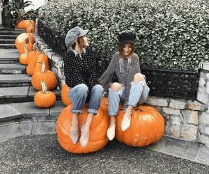 autumn, pumpkin, and fashion image