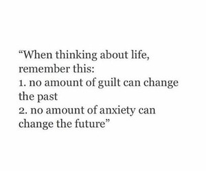 anxiety, change, and future image