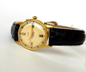 etsy, womens watches, and gold plated watch image