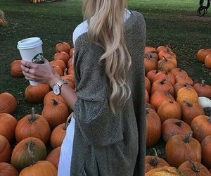 pumpkin, autumn, and hair image