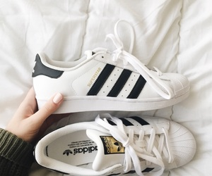 adidas, white, and shoes image