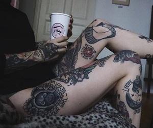 tattoo, alternative, and girl image