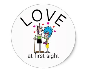 funny love, romance, and love at first sight image