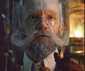 old man, steampunk, and steam punk image