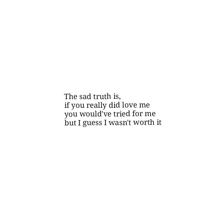 I wasn\'t good enough..it hurts to know that on We Heart It