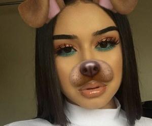 beauty, make up, and baddie image
