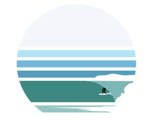 carve, wave, and illustration image