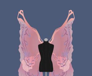 art, illustration, and mannequin image