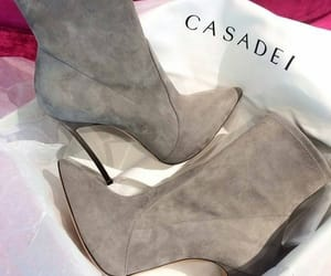 boots, grey, and heels image