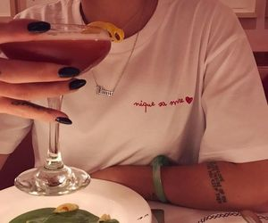 cocktail, dinner, and nails image