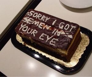 cake, funny, and sorry image