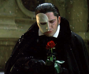 Phantom of the Opera, rose, and love image