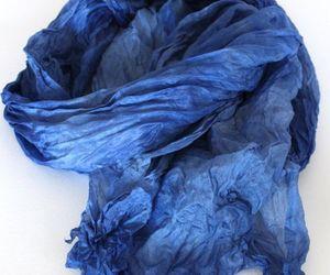 blue, fabric, and indigo image