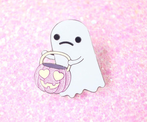 Halloween, pink, and white image