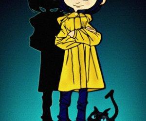 black cat, cat, and Neil Gaiman image