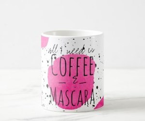 coffee, cute, and mascara image