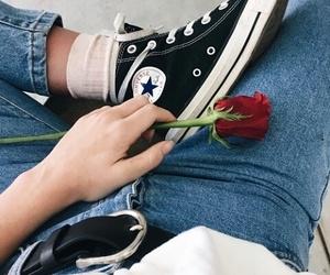 converse, rosa, and zapatillas image