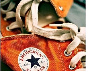 orange, converse, and shoes image