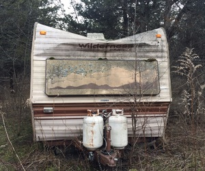 abandoned, adventure, and Camper image