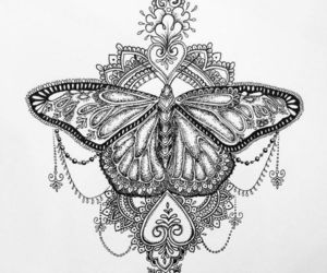 tattoo, art, and butterfly image