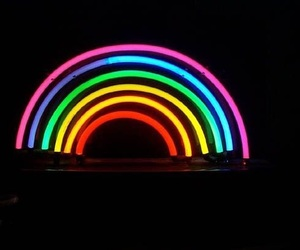 rainbow, neon, and colors image