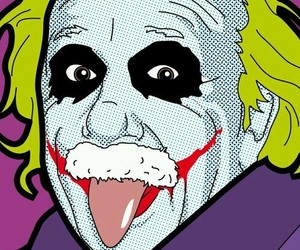 Albert Einstein, batman, and joker image