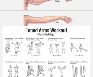 arms, fitness, and workout image