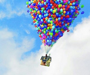 up, balloons, and disney image