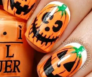 Halloween, nails, and fall image