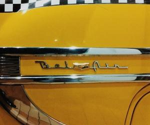 belair, car, and yellow image