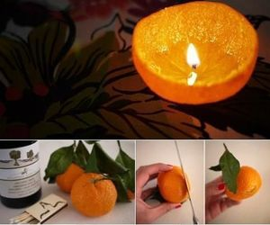 candle, orange, and diy image