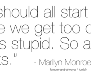 text, life, and Marilyn Monroe image